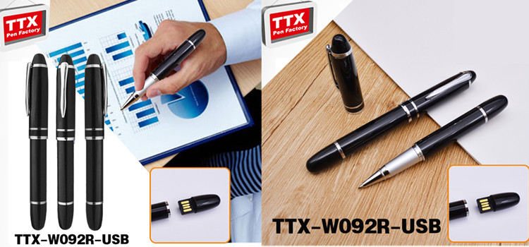 pen Shaped Cheap Giveaway Gifts Custom Pendrive for wedding gift