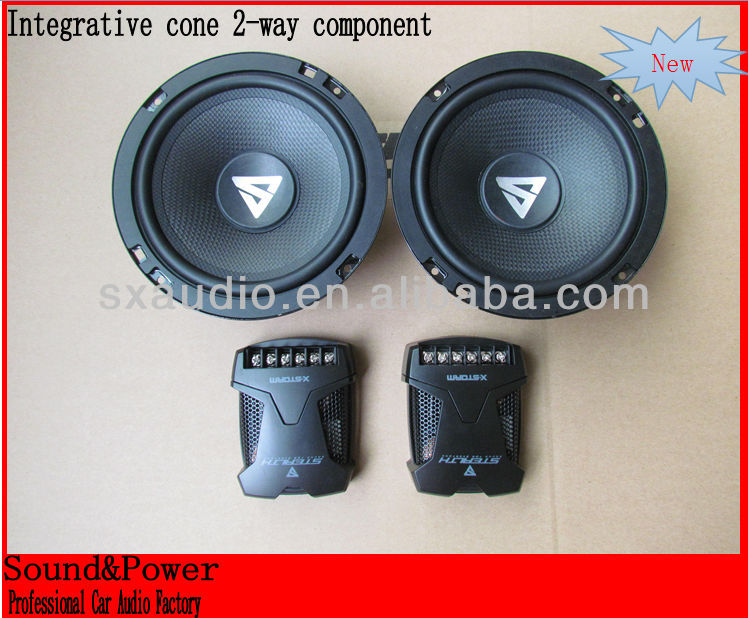 Integrative Cone hex 3.0MM hole grill 2 way 6.5 component speaker