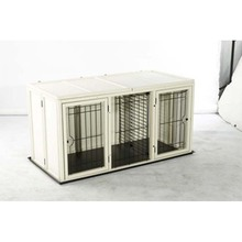 Dog Cage with Two Rooms Wood and Frame Material from Chinese Factory