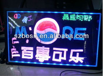Acrylic LED sign display;Acrylic sign holder sign;