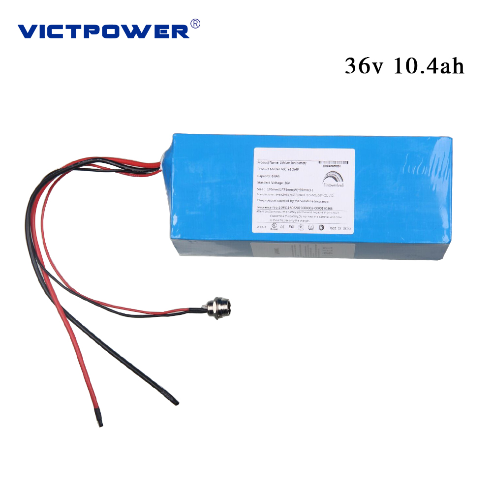 Victpower 36V 10.4ah 10s4p li-ion battery pack for electric bicycle
