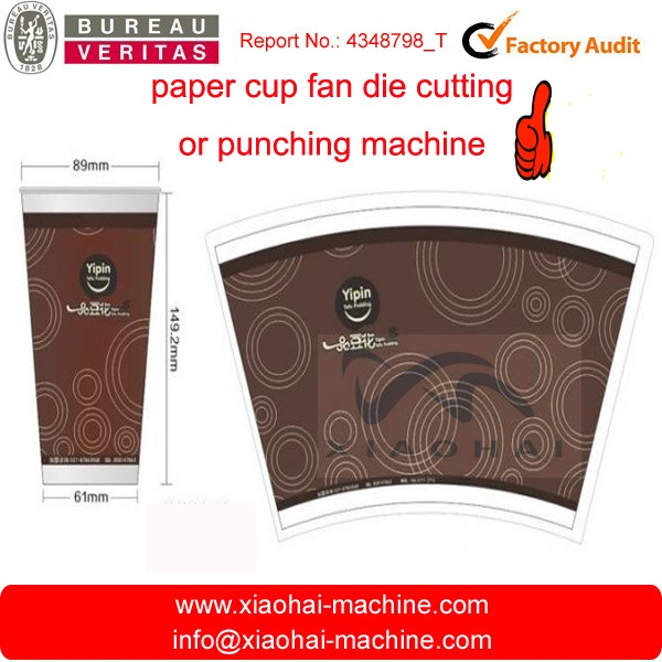 Has video roll to sheet Automatic paper Cup Fan , Paper Box die cutting machine