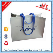 Wenzhou factory wholesale reusable pp woven band logo shopping bag