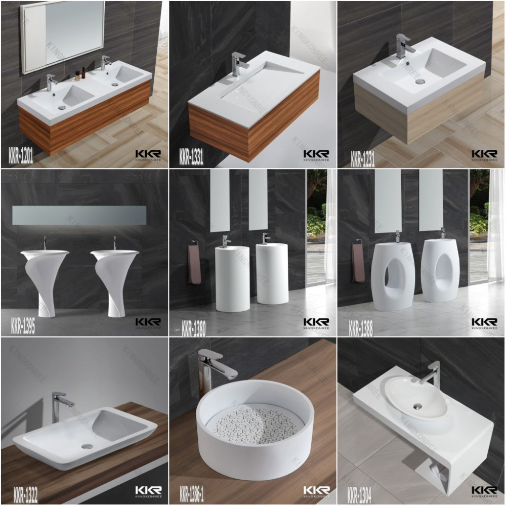 resin stand alon sink stand alone pedestal sink