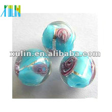 high quality bracelets making transparent round lampwork rose glass beads