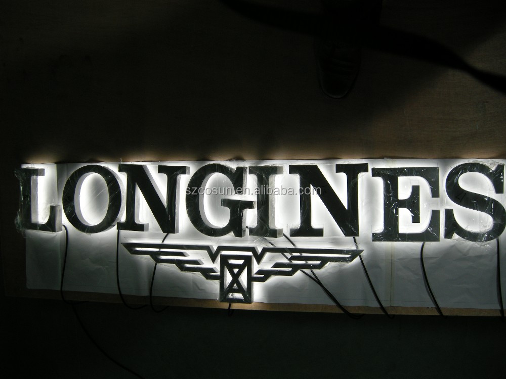 3d led backlit stainless steel number/ outdoor signage