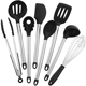 2017 Heat-Resistant 8pcs stainless steel kitchen cooking mixing tools, silicone kitchen utensil set