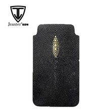 OEM Custom Pouch Case/sleeve, genuine stingray leather Cell Phone Pouch for Men
