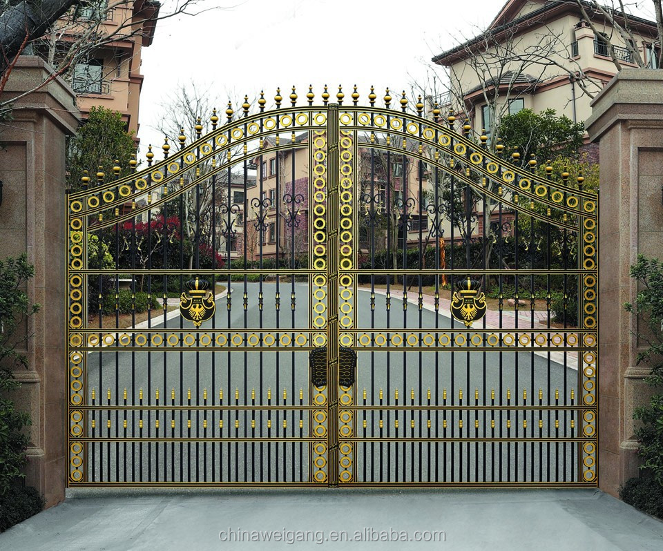 Design gate house modern house for Modern main gate designs
