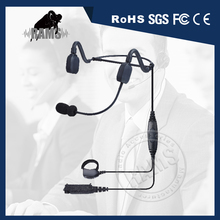 New Bone Conduction Two Way Radio Headphone for Talkie Walkie Motorola