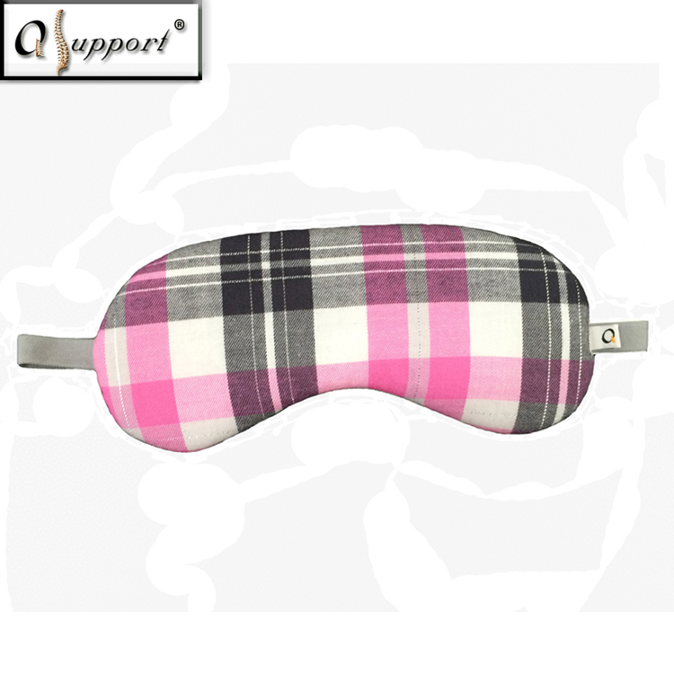 Premium Quality Soft Skin Friendly Negative Ion Far Infrared Custom Pink Black Check Traveling Sleeping Eye Patch Mask