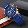 Skone 5156 new arrival blue color band rose gold case multi funtion luxury man watches sport watches