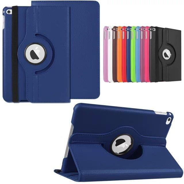 360 degree rotating swivel stand magnetic PU leather case smart cover case for ipad mini 4
