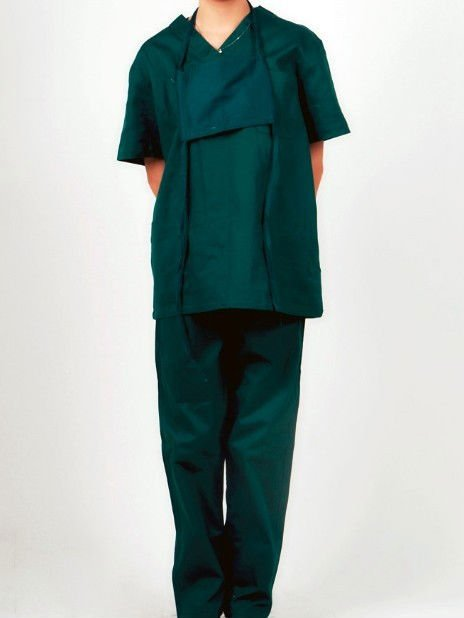 Women's /Men's Dark green Hospital Uniforms op clothes operation clothes Surgical set Apparel scrub suits scrub clothing