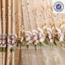 Small MOQ European Style Luxury embroidery curtain for sale