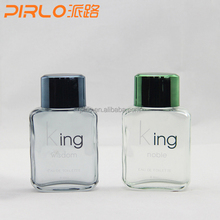 60ml 2oz glass perfume bottle for men perfume with different color and spray top can provide your printing on bottles wholesale