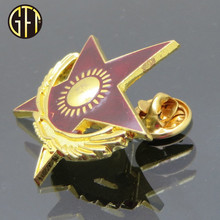 Wholesale Custom Luxury gold plated Star shape engrave soft enamel metal lapel pin Manufacturer China