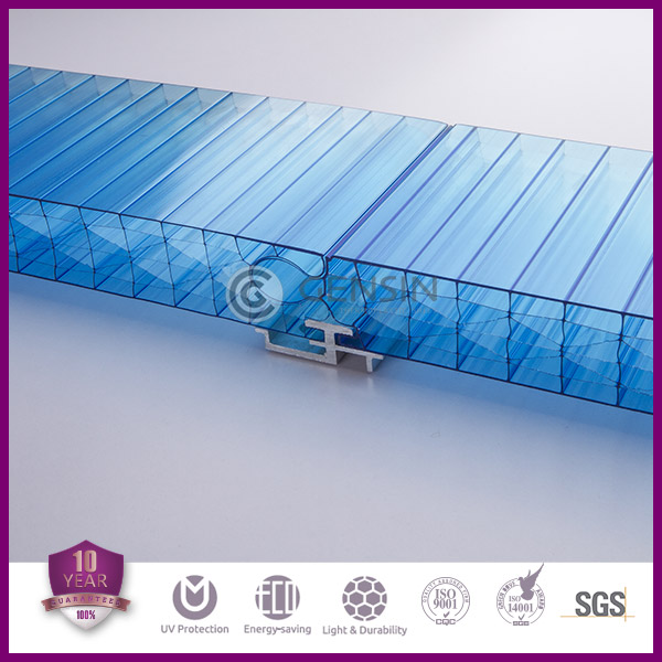 40mm thick polycarbonate translucent building elements for wall decoration