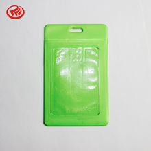 clear plastic pvc minimalist id business name tag vertical card holder