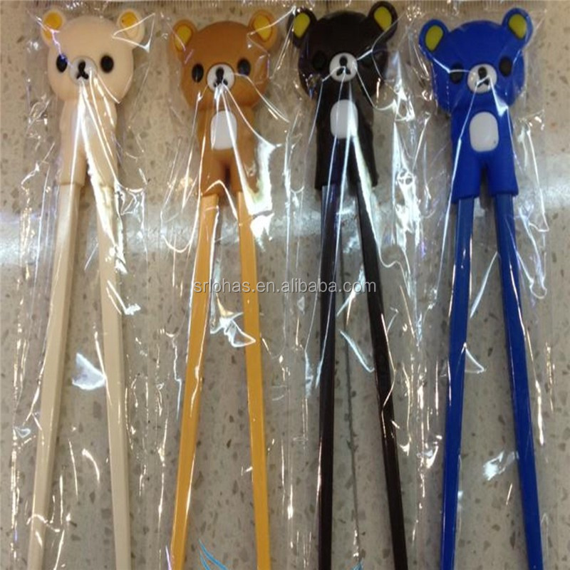 cute animal shaped chopsticks with silicone chopsticks holder