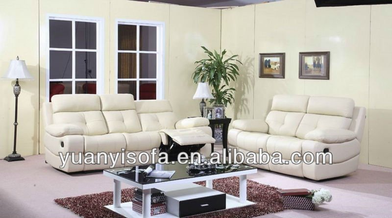 Modern white italy leather electric recliner sofa YLR1010