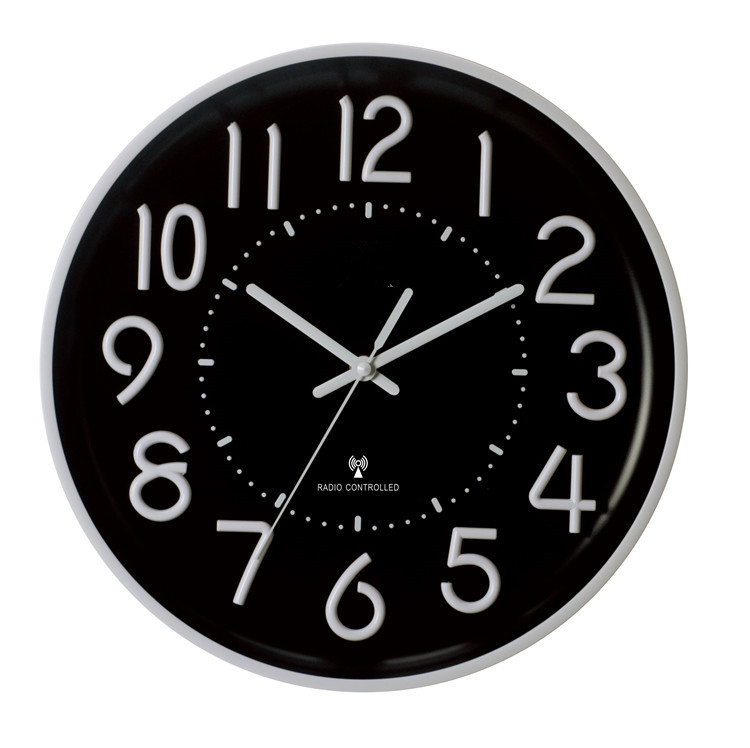 wholesale silent luminous sweep wall clock radio controlled wall clock