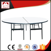Modern banquet table,cheap round dining table ,PVC top hotel table EZ-68