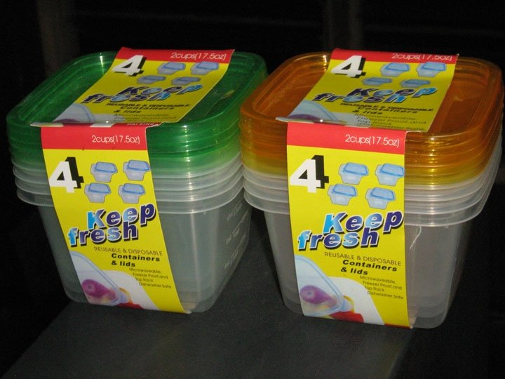 plastic food container box with cover