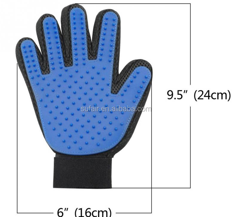 2017 New Arrival Product Solf Silicone Massage Pet Bath Glove / Durable Pet Grooming Glove Brush for Dog and Cat