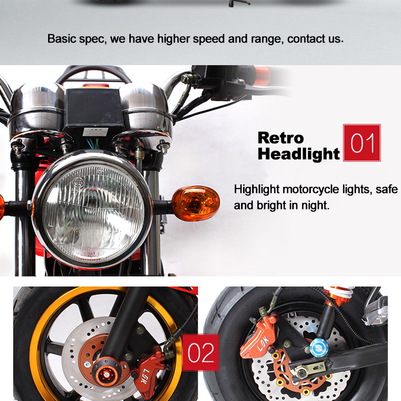 Factory Top Speed 100KM/H Outdoor Electric Motorcycle China Supplier