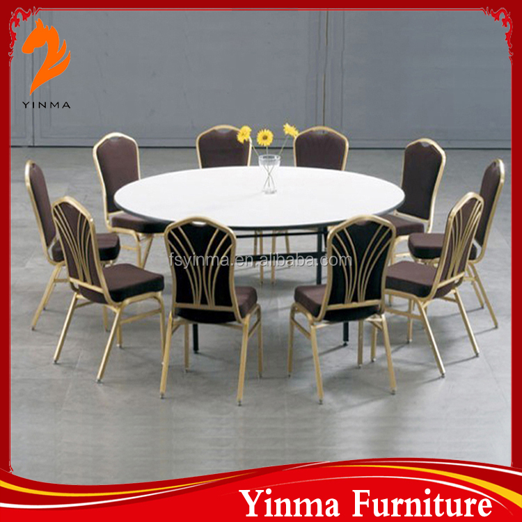 Wooden round banquet folding table events table for sale