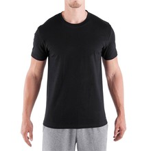 OEM ODM Men black o neck dry fit plain dry-fit t-shirts cooling shirt with short sleeve