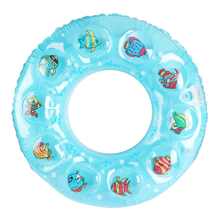 Safety custom pool floater double thickening PVC plastic children quartz inflatable swim ring