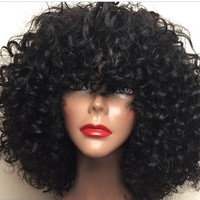 Indian High Quality Wholesale Full Lace Virgin Human Hair Wig