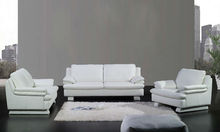 French style Modern sofa latest design high back Classic white Top grain leather 1 2 3 Sofa modern outdoor sofa A352-17