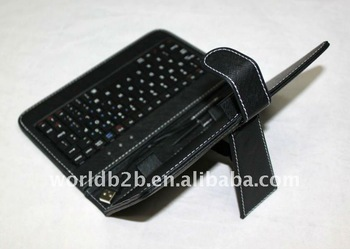 Universal Keyboard Leather Case for 7inch MID,Tablet PC with Stand