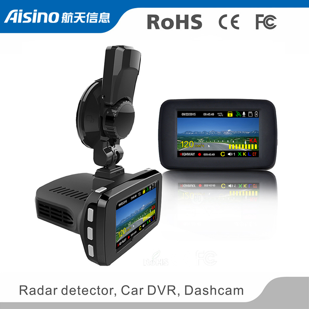Wholesale High quality <strong>1080P</strong> 2.7 inch 170 degree black 3 in 1 GPS Radar detector car dvr dash cam