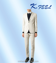 High Quality Tailored Made Wool White Groom Wedding Suits For Men