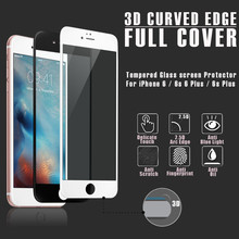 4D full temepred glass for iphone, for iphone7 plus 4D curved tempered glass wholesale