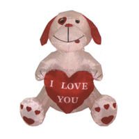 120cm Valentine decoration white puppy I LOVE YOU