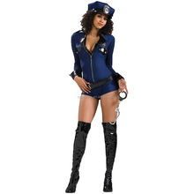 strong party halloween costume womens police shirt costume QAWC-8632