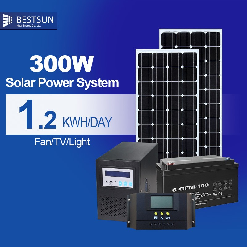 Bestsun crystalline silicon photovoltaic cells solar panel system 300W