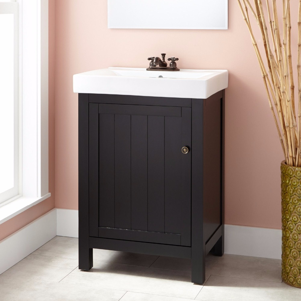Ceramic Integral sink bathroom vanity unit, vanity bathroom sink