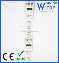 Computer controlled LED flexible strip light,RGBW 60LEDs/M, DMX artnet programmable waterproof flexible strip