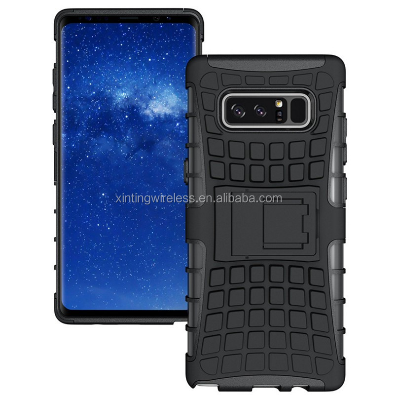 Rugged Armor Kickstand Combo Shockproof Cover Case For Samsung Galaxy Note 8, Case For Galaxy Note 8 Anti-Slip phone case