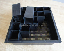 Black Rectangular Nursery plastic Pot nursery flower pot tray