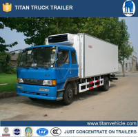 refrigerator freezer truck , refrigerated van and truck in dubai