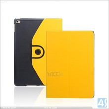 360 degree rotating custom leather case for ipad air 2, for ipad 6 rotate leather case with two colors