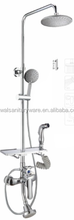 European Brass Bathroom Rain Shower Head Set UPC Tub Shower Faucet