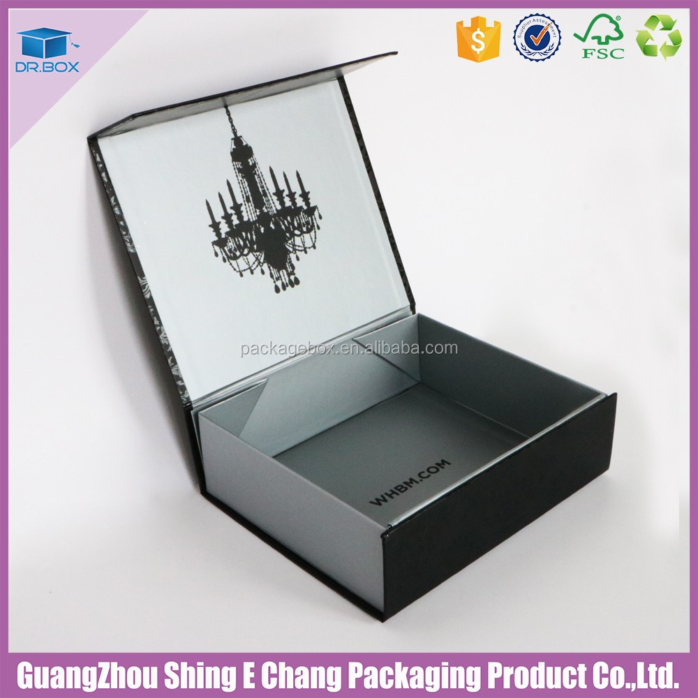 Glossy art paper with printing /grayboard cardbord box baby clothes gift box for online shopping india clothes